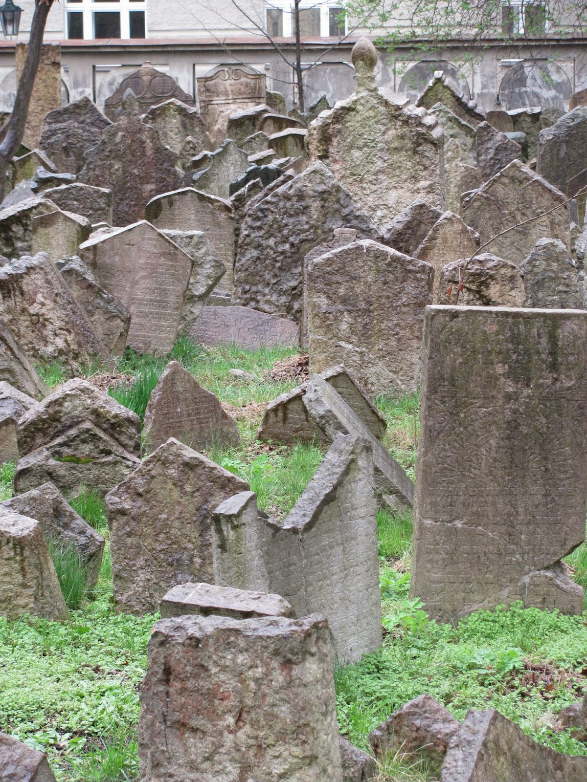 Gravestones Old Jewish Cemetery Prague, Czech Republic