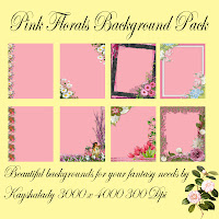 Pink floral background pack digital scrpabooking papers, printable scrapbooking paper