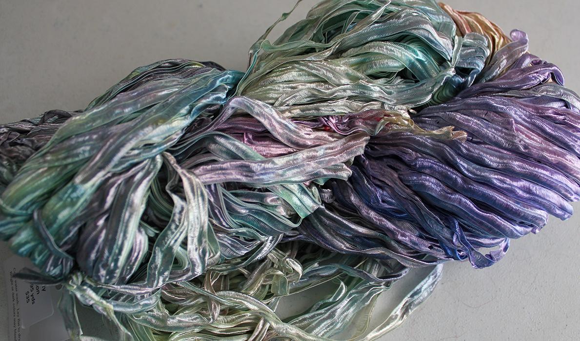 Nylon Knitting Ribbon : Rurification hand dyed nylon ribbon yarn