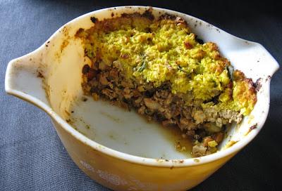 creamy corn-crusted tempeh pot pie