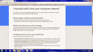 Mengatasi Our system has detected unusual traffic from your computer network
