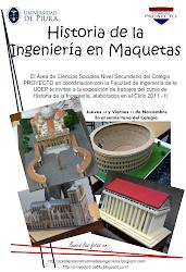 Afiche utilizado como propaganda para la Exposición de maquetas de HIS en el Colegio Proyecto