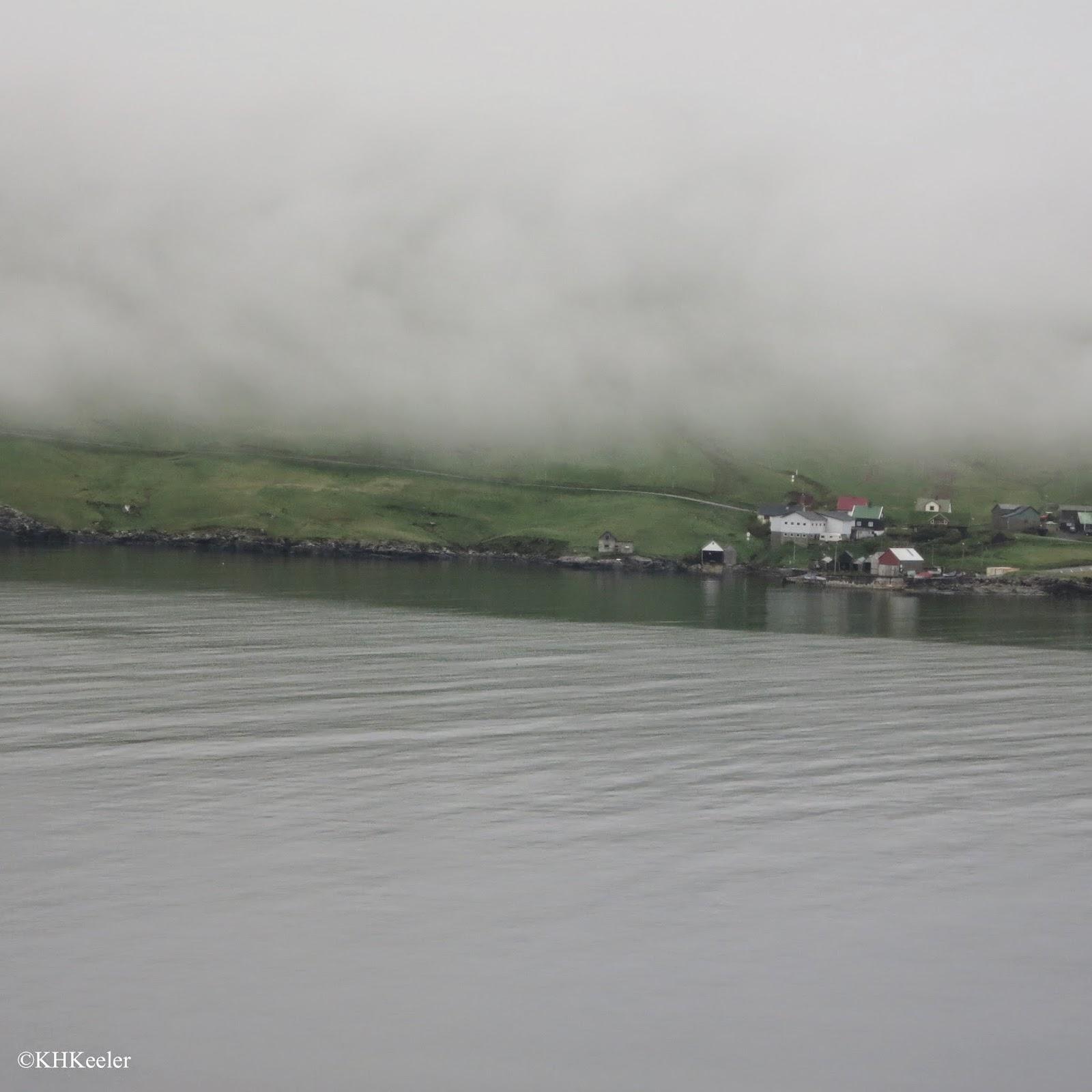 low clouds, Faroe Islands