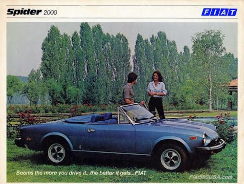 1979 Fiat Spider 2000 Brochure