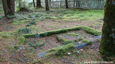 old grave sunken into the ground