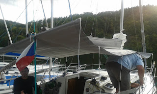 Phobos 25 with the boom tent made by Ov?i?ka Sails - however the rods are not foldable & We sail Phobos 21: 2015