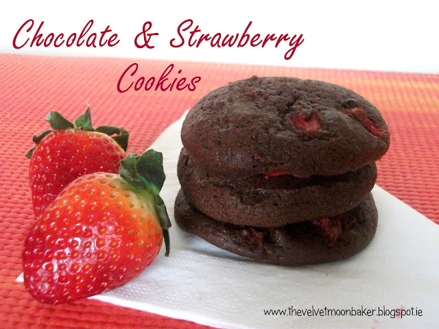 Chocolate and Strawberry Cookies