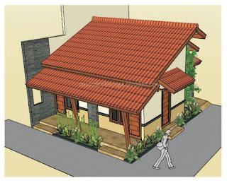 rumah etnik minimalis by desain arsitek jogja gate perumahan minimalis ...