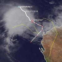 Wohin zieht der Tropische Sturm IGGY vor Australien, Iggy, Sturmwarnung, Australien, Australische Zyklonsaison, 2012, aktuell, Satellitenbild Satellitenbilder, Verlauf, Zugbahn, Vorhersage Forecast Prognose, Januar,