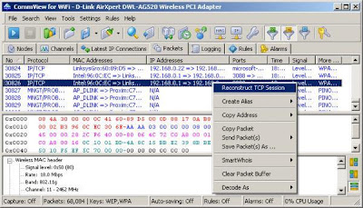 Commview network analyzer screenshot