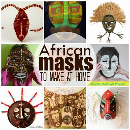 Marie 39 s pastiche traditional masks of west africa with for West materials crafts