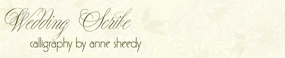 WEDDING CALLIGRAPHY ENDORSEMENTS