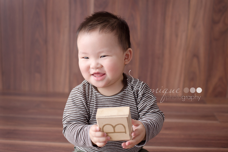 Cute boy with blocks
