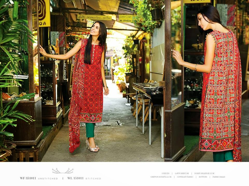 Lawn dresses 2015 pakistani fashion