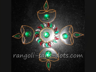 Craft - kundan rangoli , OHP craft