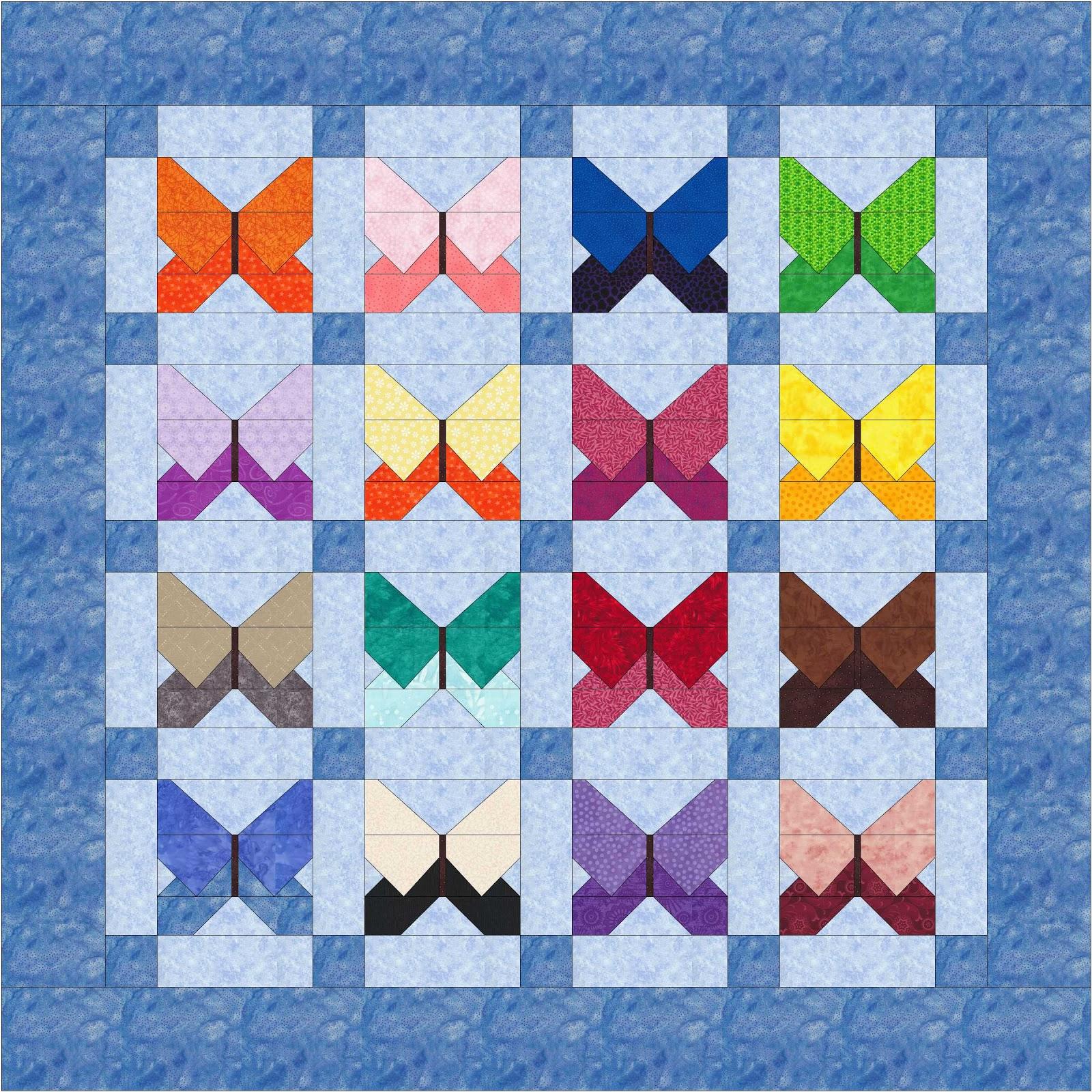 Life In Pieces: Rainbow Scrap Challenge-Back in Black : butterfly quilt blocks - Adamdwight.com