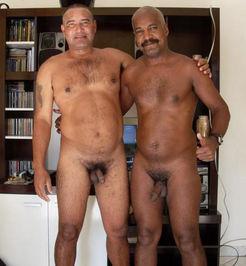 Men Nude older black