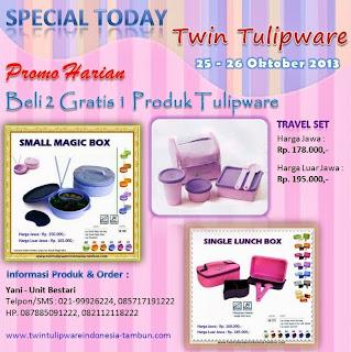 Promo Harian Tulipware, Special Today Tulipware, Tulipware Oktober 2013