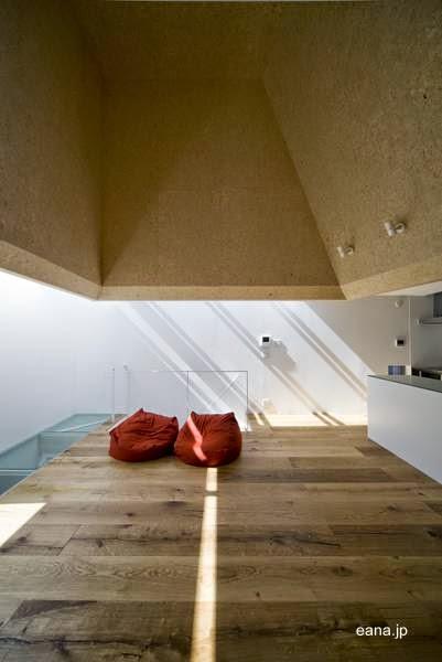 Sala de estar en el  open plan de la planta alta de la casa