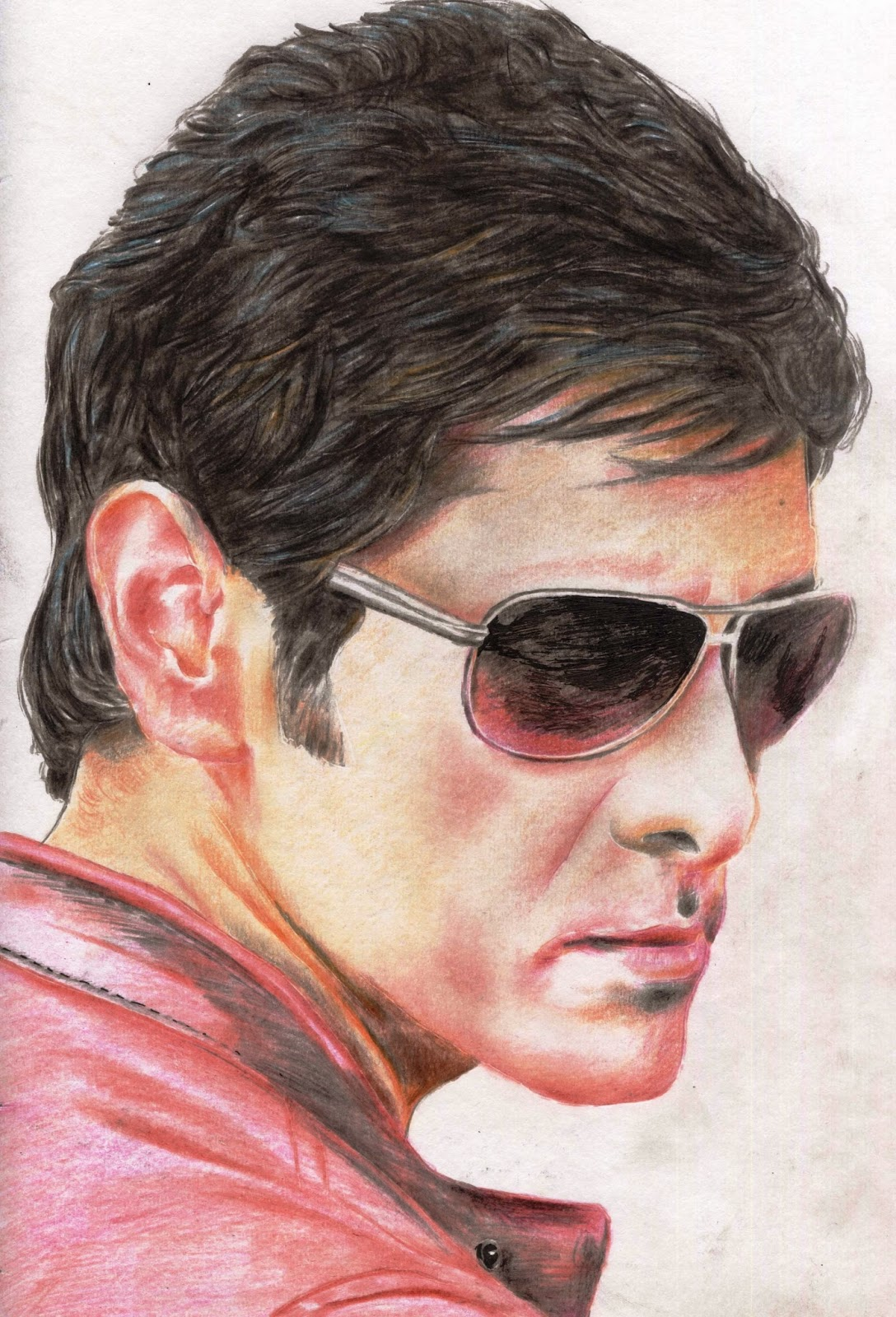 Chiyaan vikram colour sketch