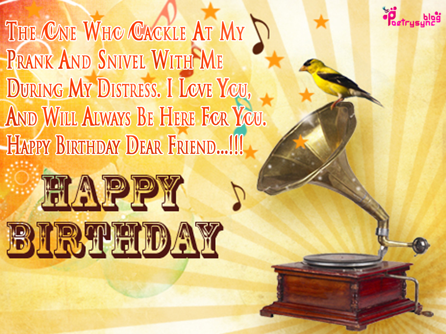 Birthday Wishes For Best Friend In English Images ~ The biggest poetry and wishes website of world
