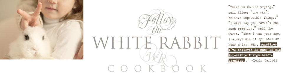 WHITE RABBIT cookbook