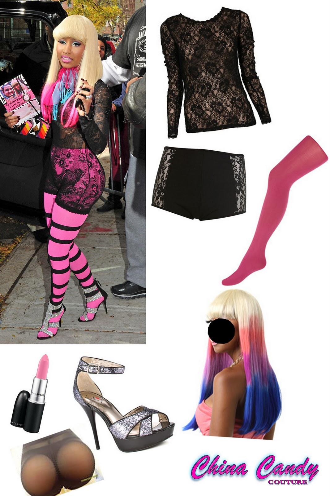 Nicki Minaj Wears See Through Tights For a nicki minaj costume,