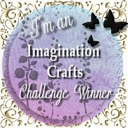 I won the Imagination Crafts Challenge!