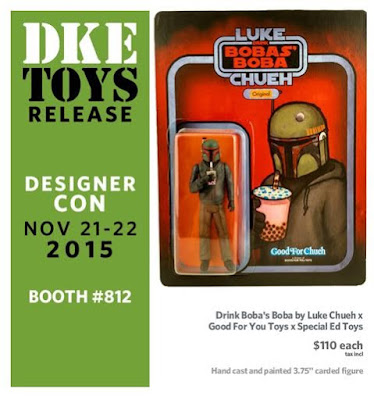Designer Con 2015 Exclusive Boba's Boba Resin Figure by Luke Chueh x Good For You Toys x Special Ed Toys
