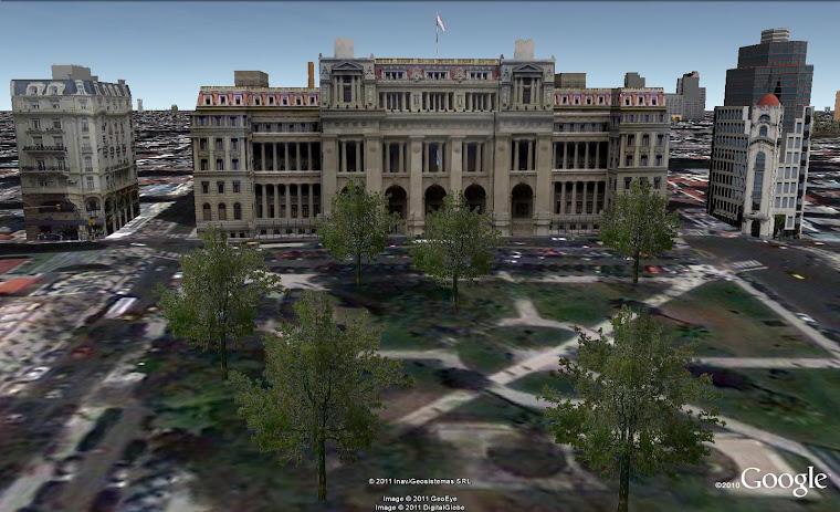 Plaza Lavalle. Los tres edificios fueron realizados por mi para Google Earth
