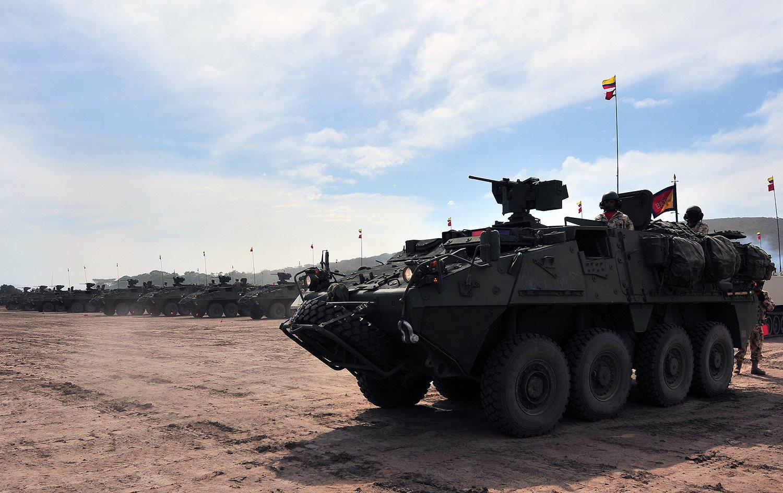 Blindados LAV III Gladiador del Ejército de Colombia.