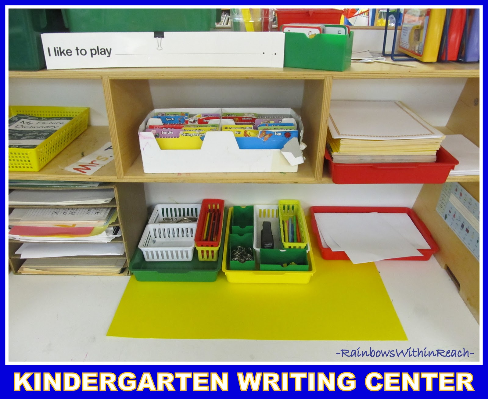 How Preschoolers Can Utilize a Writing Center
