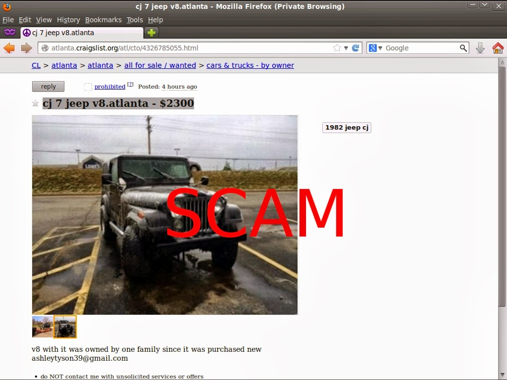Craigslist Car Scam List for 02/10/2014 | Vehicle Scams - Google ...