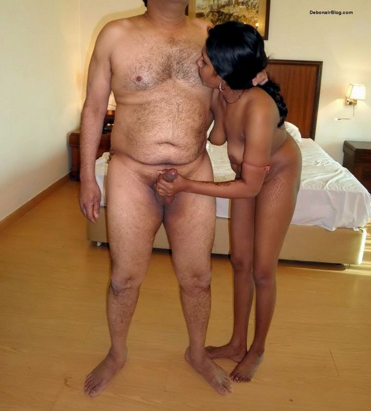 Indian prostitute satisfying her customer