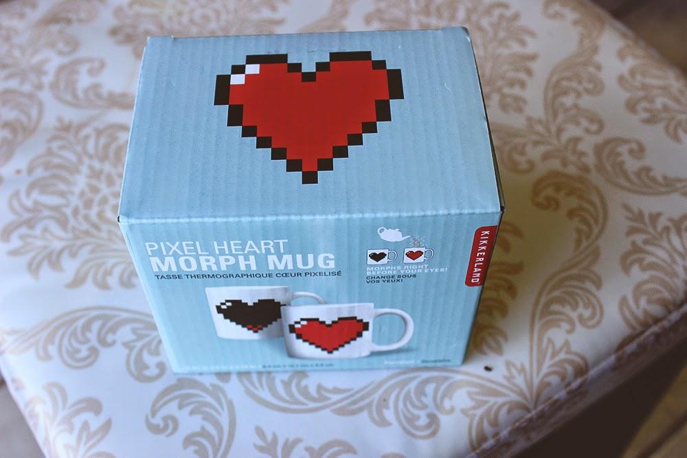 pixel mug, kikkerland, mug, morph mug, heart mug, tillys, loz,