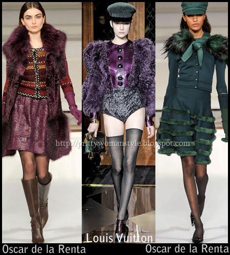 тъмносиньо, тъмночервено, тъмнолилаво, тъмнозелено и тъмнокафяво - Модерни цветове есен-зима 2011-2012