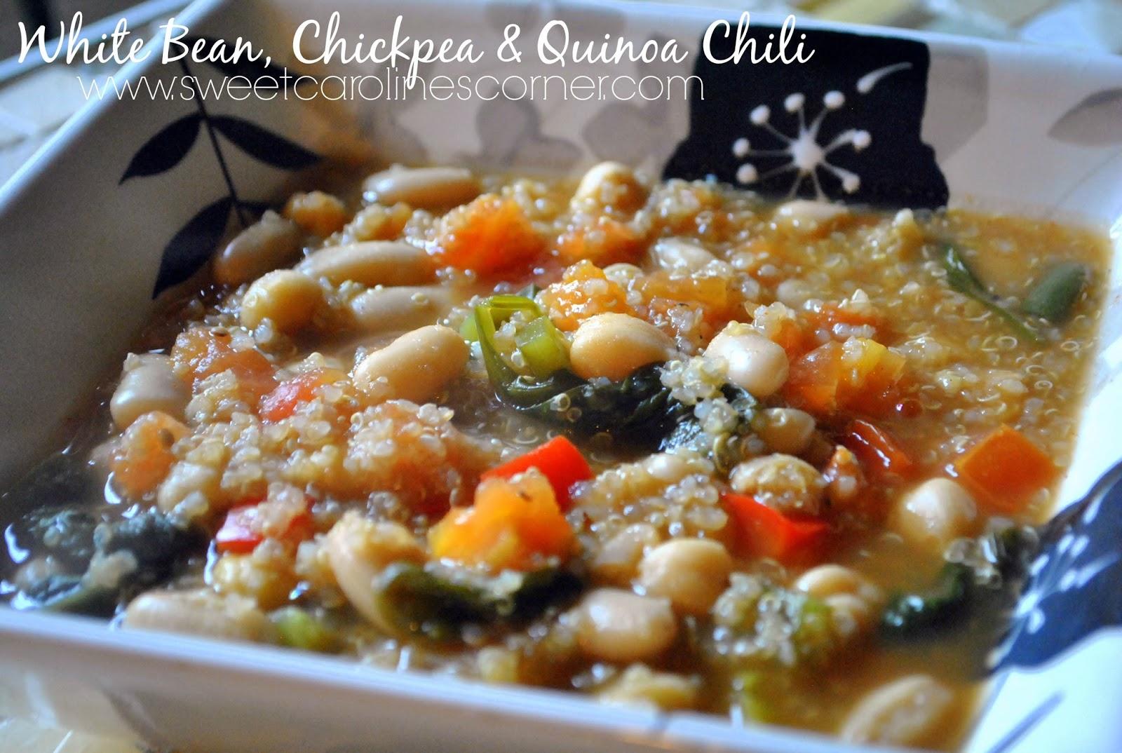 white bean, chickpea & quinoa chili (chili de feijão branco, grão de bico e quinoa)