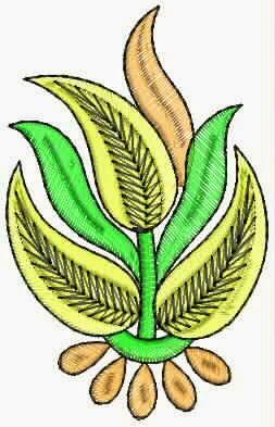 Donker groen kleur appliekwerk ontwerp
