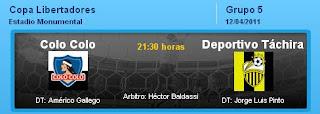 Ver Colo Colo vs. Deportivo Táchira 12 Abril 2011