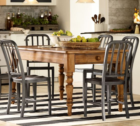 My hunt for the perfect kitchen table driven by decor for Pottery barn style kitchen ideas