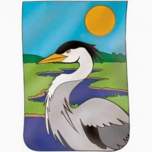 heron applique house flag
