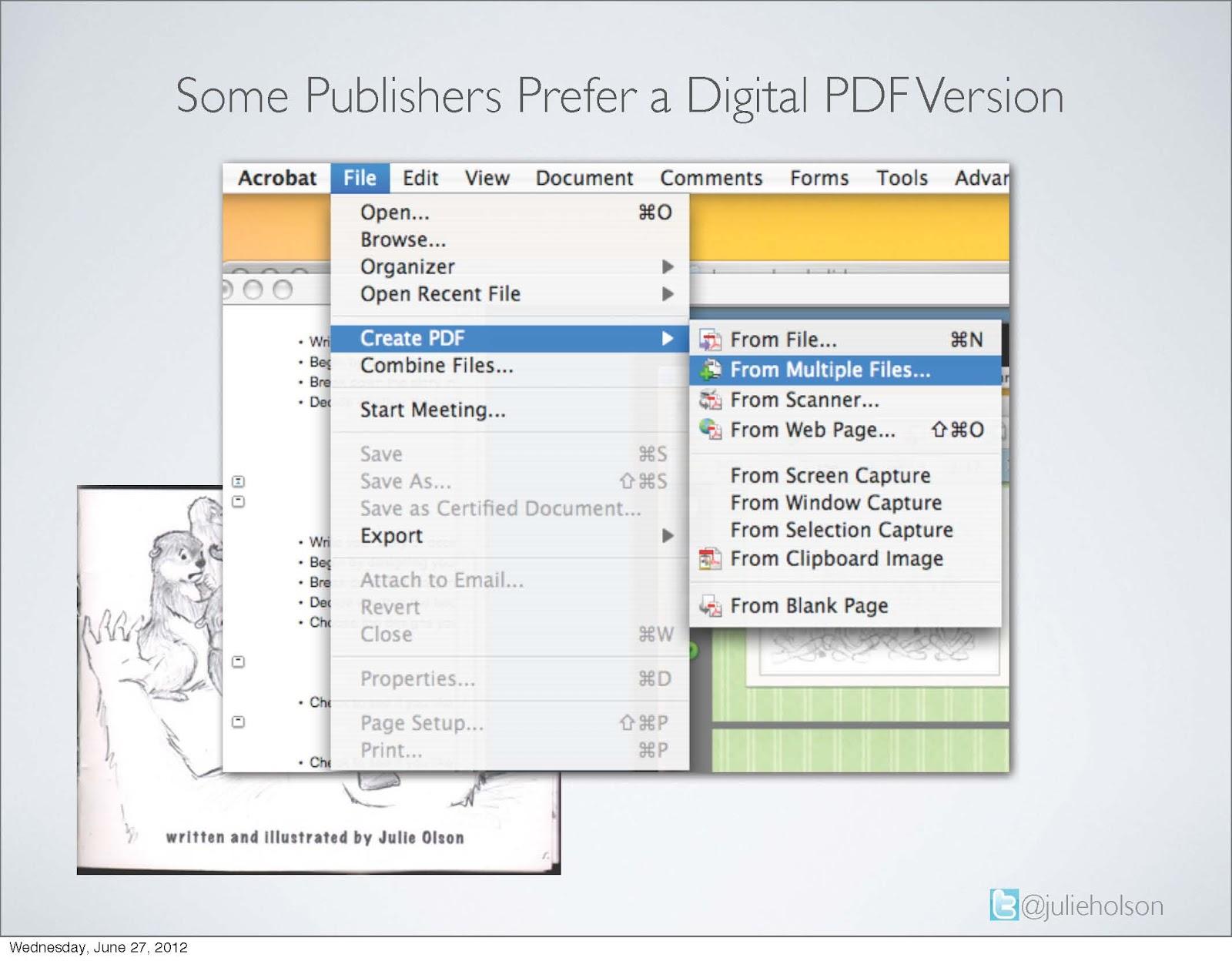 julie olson books author illustrator how to create a digital pdf