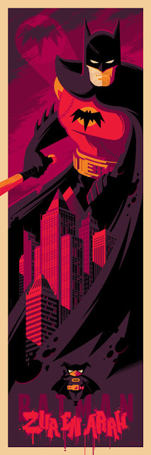 Batman (Zur En Arrh) DC Comics Screen Print by Tom Whalen