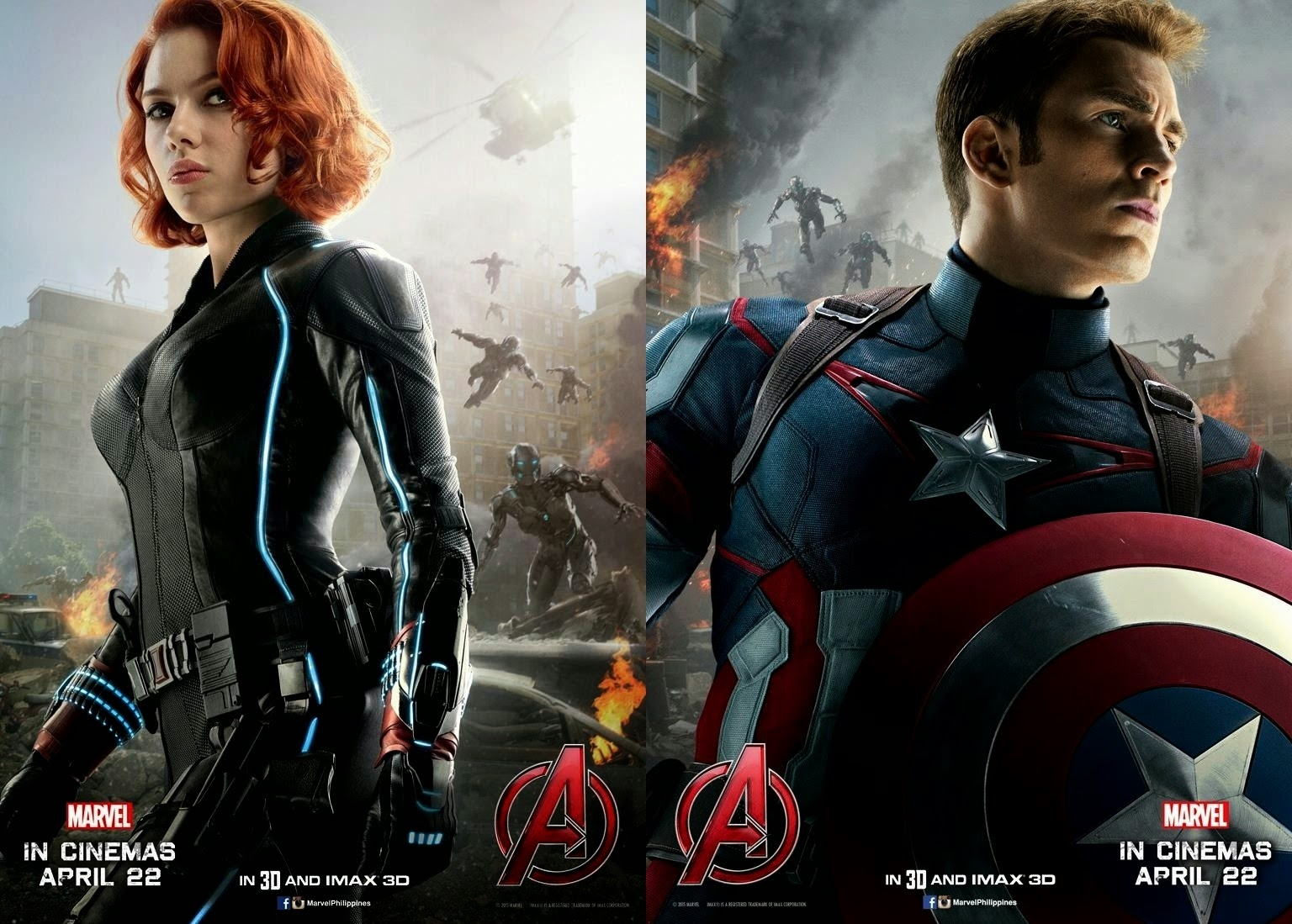 Black Widow and Captain America Movie Poster