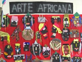 Máscaras Africanas para colorir com a turma! Máscaras Africanas para pintar!