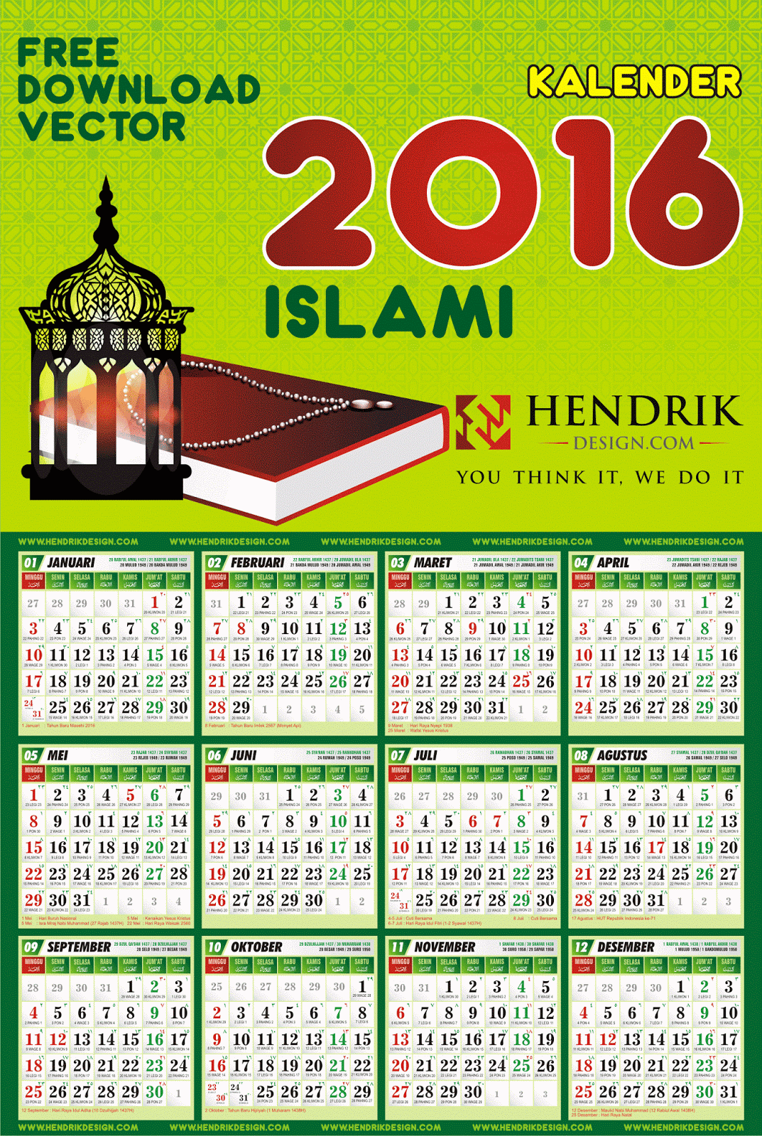 Download Kalender 2014 Indonesia Jawa Nasional Islam Download Kalender ...