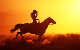 Girl on Horse Sunset Photography HD Wallpaper