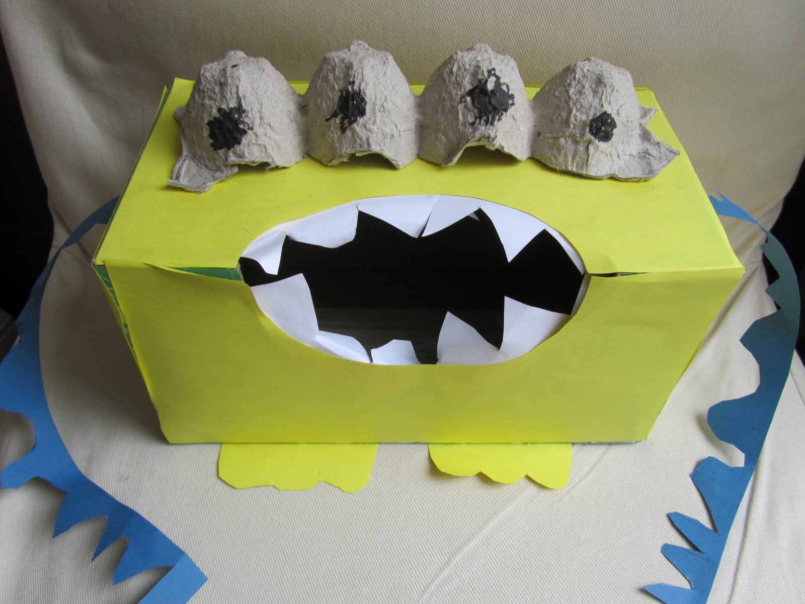 then there were the tissue box monster feet (yeah, I had to toss those ...