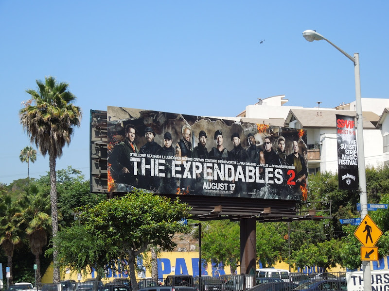 Expendables 2 billboard