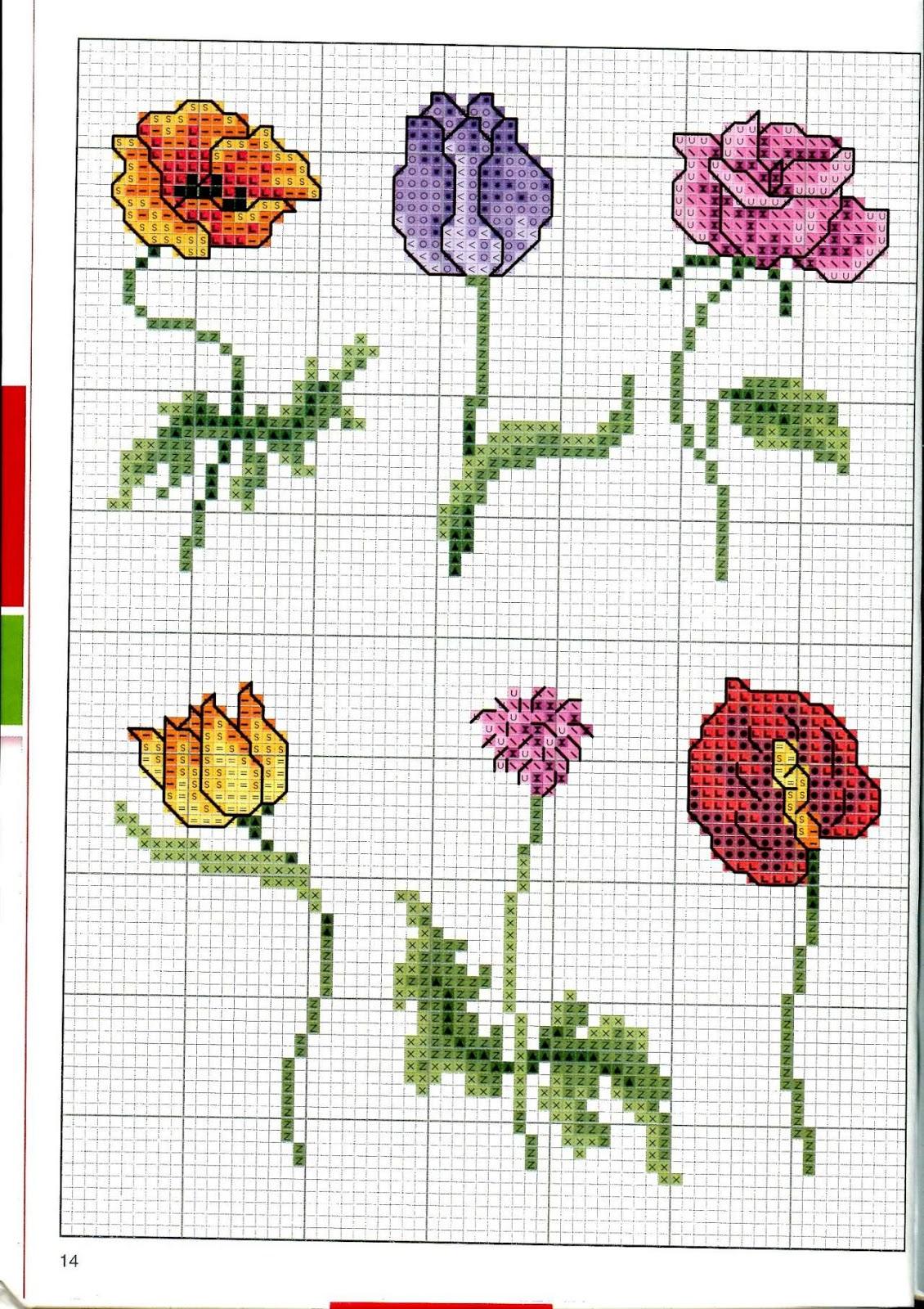 Схемы вышивки крестом бесплатно скачать Цветы, букеты 47